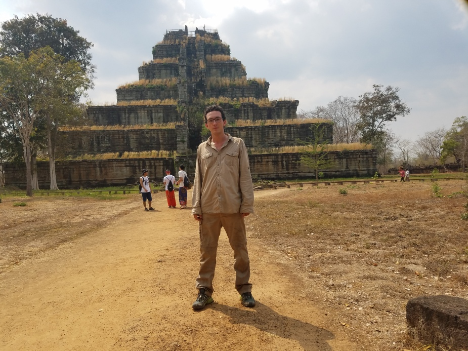 Standing in front of Koh Ker temple